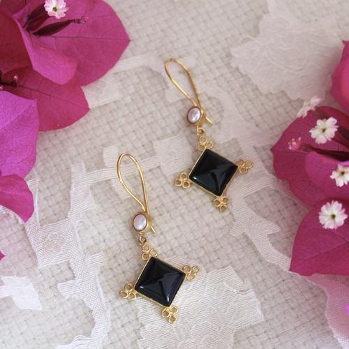 Black Onyx Pearl Drops