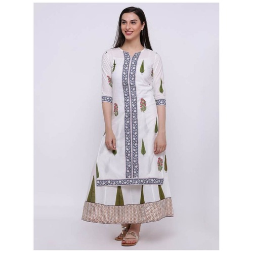 Front Piping Knee Length Kurta