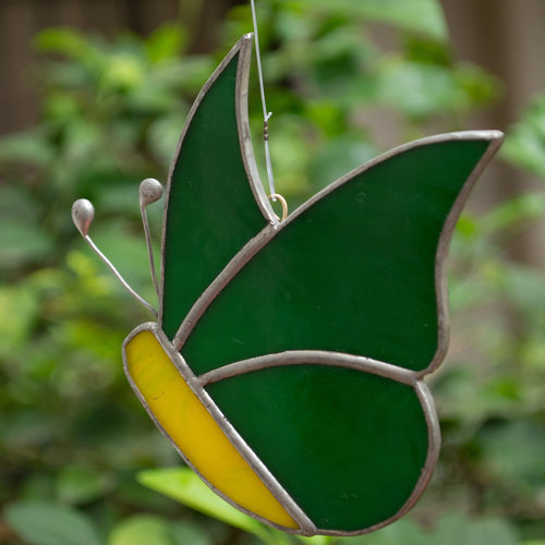 Green & Yellow Sun Catcher - Butterfly