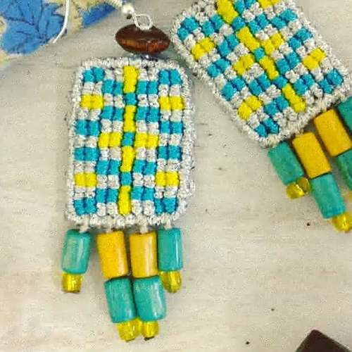 Earrings - Aztec Beads and Knots