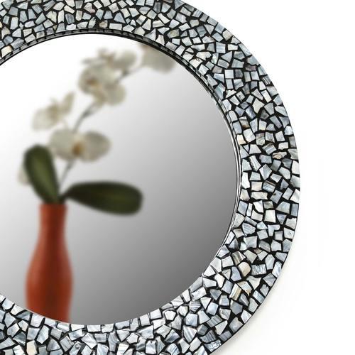 Grey Mosaic Mirror