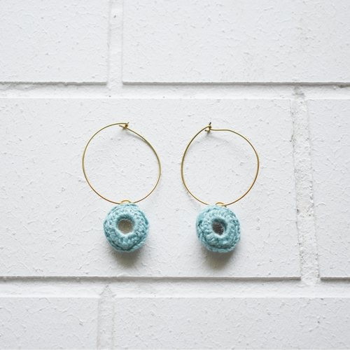 Abhla Circle Earrings - Blue