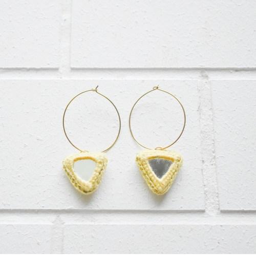 Abhla Triangle Earrings - Yellow