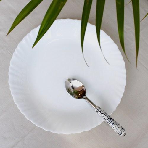 Ceramic Spoon Set - White