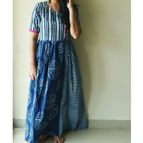 Indigo Blue Buddha Dress