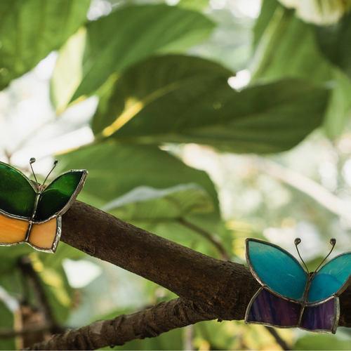 Yellow Butterfly Wrap Sun-Catcher