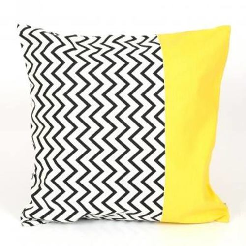 Zigzag Lemon Cushion Cover