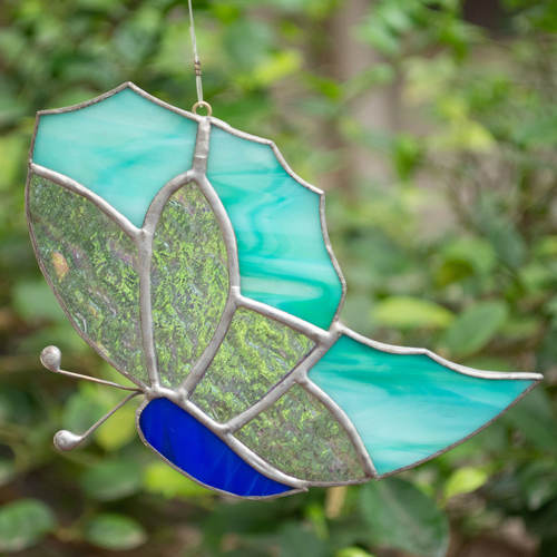 Fly Away Blues Sun Catcher - Butterfly