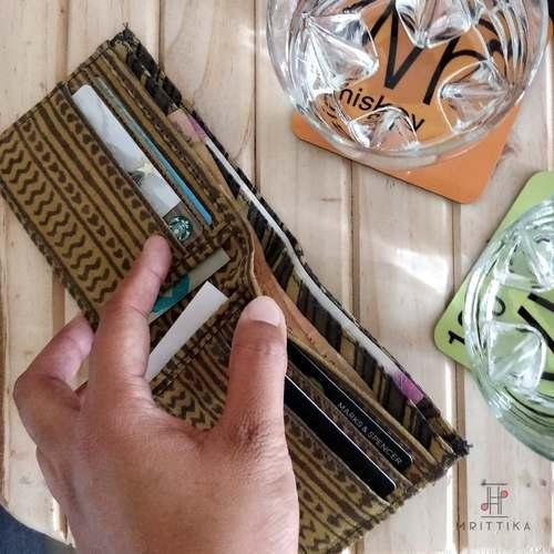 Prithu grey and yellow zigzag wallet