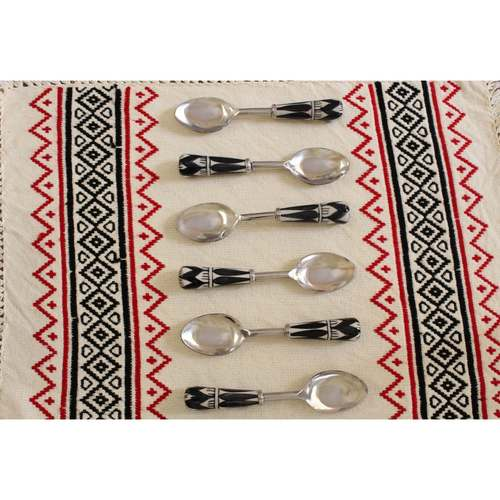 Ceramic Black And White Spoons