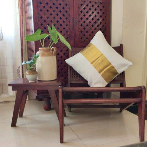 Classic Gold Kasavu Cushion Cover