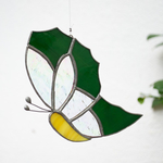 One With the Green Sun Catcher - Butterfly