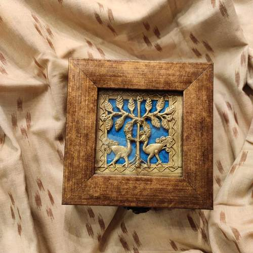Sapphire Dokhra Peacock Jewellery Box
