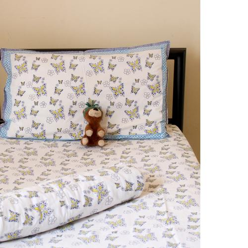 Butterfly Pink Kids Bedsheet Set