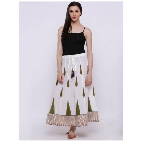 Printed Front Tie Skirt
