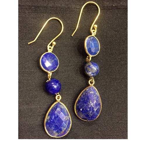 Elegance Lapiz Lazuli Danglers