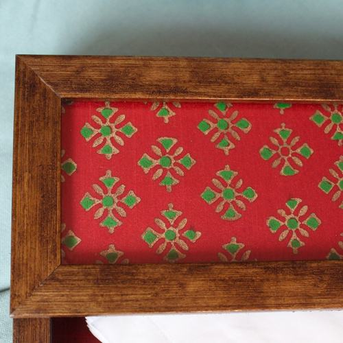 Red and Green Napkin Holder