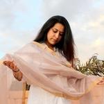 Lavender Zari Chanderi Dupatta