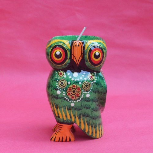 Owl Tea Light - Green