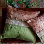 Leafy green - Cushion Cover