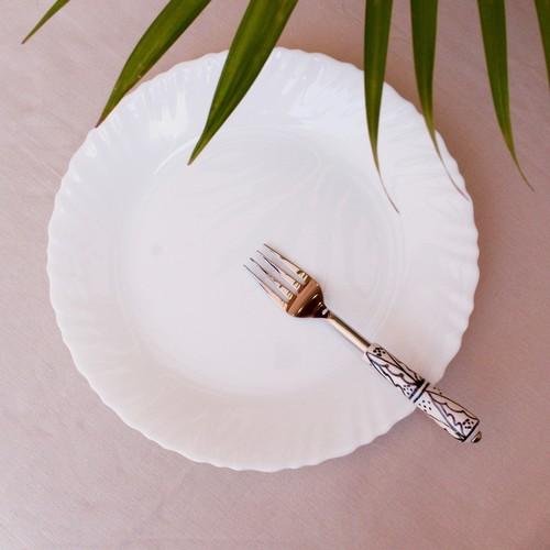 Ceramic Fork Set - White