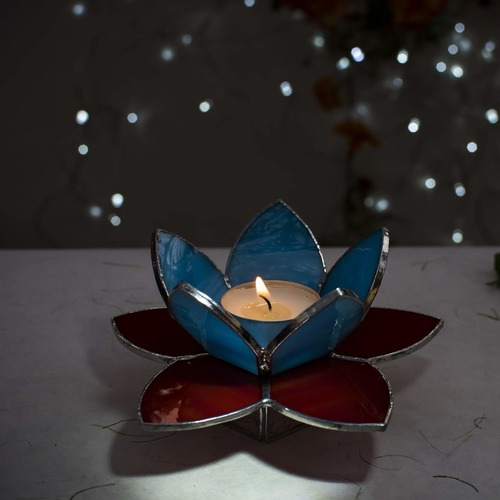 Lotus Tea Light Holder - Red