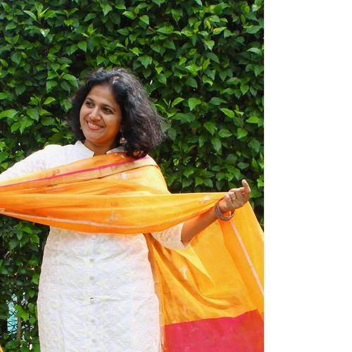 Flamingo Orange Dupatta