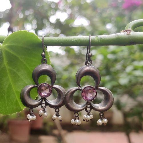 Pink Hydro Quartz Earrings