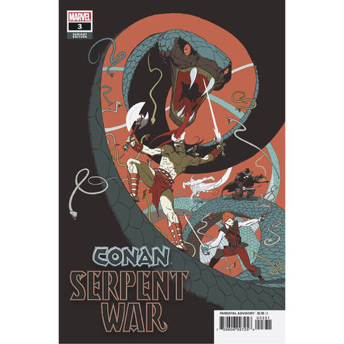 CONAN SERPENT WAR 3 OF 4 MARTIN VAR