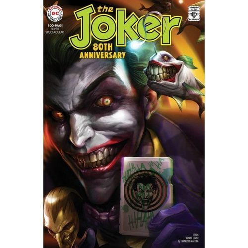 THE JOKER 80TH ANNIVERSARY 100-PAGE SUPER SPECTACULAR #1 1960S VARIANT COVER BY FRANCESCO MATTINA