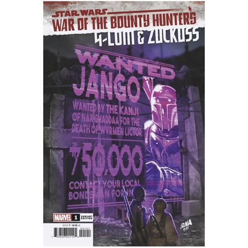 STAR WARS WAR BOUNTY HUNTERS 4-LOM ZUCKUSS #1 WANTED VAR
