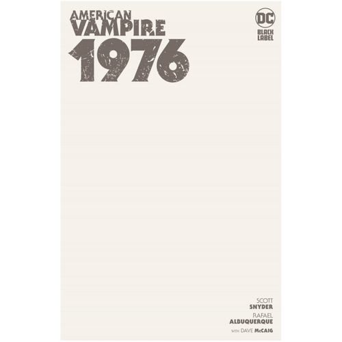 AMERICAN VAMPIRE 1976 #1 (OF 9) CVR C BLANK (MR)