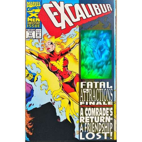 Marvel Excalibur #71 1993 Fatal Attractions Hologram cover