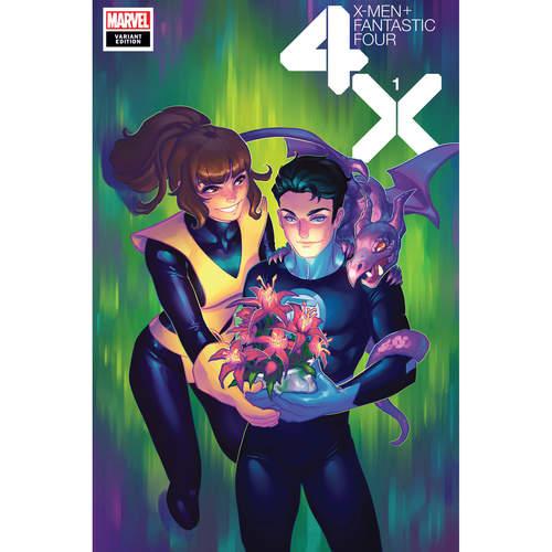 X-MEN FANTASTIC FOUR 1 OF 4 HETRICK FLOWER VAR