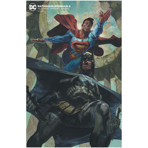 BATMAN SUPERMAN 6 CARD STOCK VAR ED