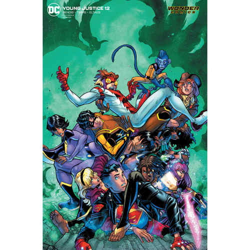 YOUNG JUSTICE 12 CARD STOCK VAR ED