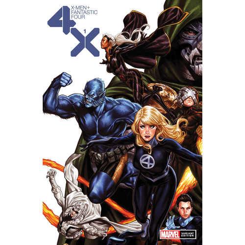 X-MEN FANTASTIC FOUR 1 OF 4 BROOKS VAR