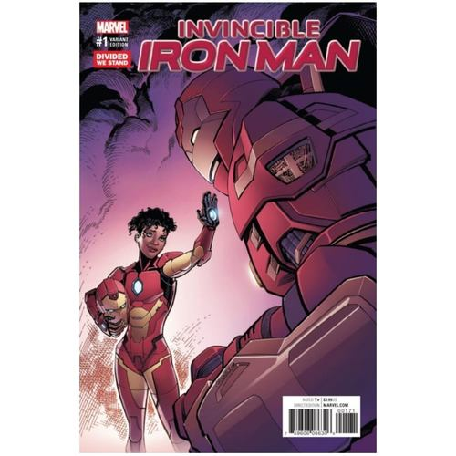 INVINCIBLE IRON MAN #1 DIVIDED WE STAND VARIANT