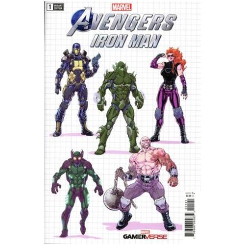 MARVELS AVENGERS IRON MAN 1 NAUCK DESIGN VAR