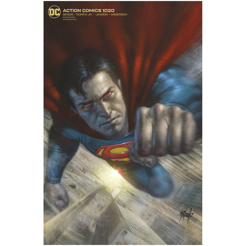 ACTION COMICS 1020 CARD STOCK L PARRILLO VAR ED