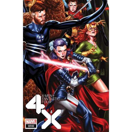 X-MEN FANTASTIC FOUR #4 (OF 4) BROOKS CONNECTING VAR