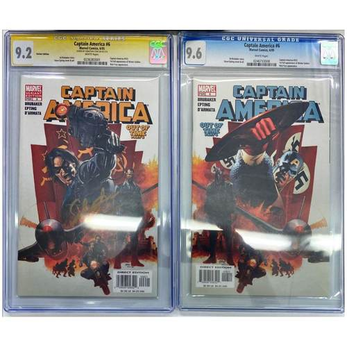 CAPTAIN AMERICA #6 CGC9.6 AND CGC9.2 YELLOW LABEL