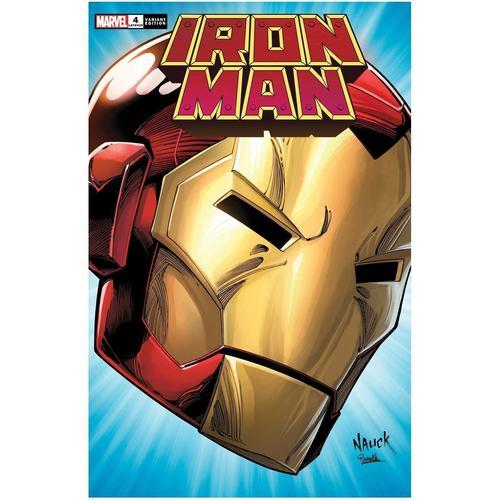 IRON MAN #4 NAUCK HEADSHOT VAR