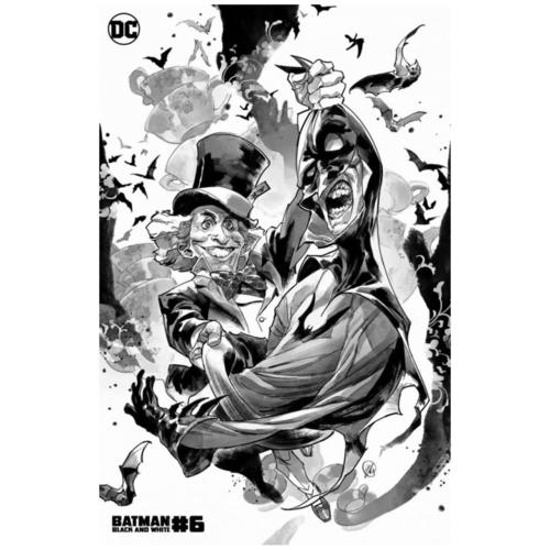 BATMAN BLACK AND WHITE #6 (OF 6) CVR C YASMINE PUTRI MAD HATTER VAR
