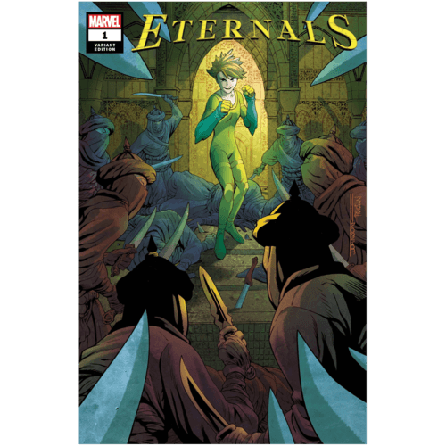 ETERNALS #1 JEFF JOHNSON VAR