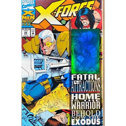 X-FORCE #25 By Nicieza & Capullo. Marvel 1993 Hologram Cover. Fatal Attractions