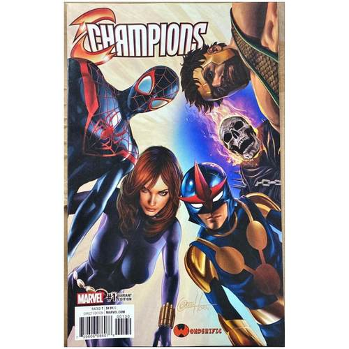 CHAMPIONS #1 GREG HORN VARIANT 9.8 CONDITION