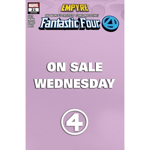 FANTASTIC FOUR #21 MARVEL WEDNESDAY VAR EMP