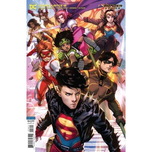 YOUNG JUSTICE #18 CVR B DERRICK CHEW CARD STOCK VAR