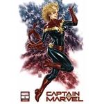 Captain Marvel 1 Mark Brooks Variant Signed